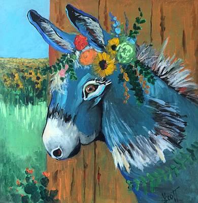 Painting - Festive Fiona by Mary Scott