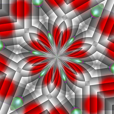 Digital Art - Festive Fractal by Michelle McPhillips