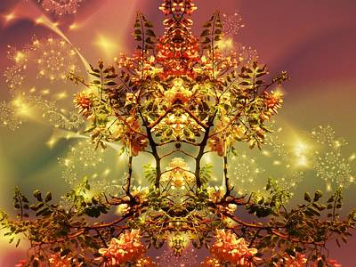 Digital Art - Festive Fractal by Nancy Pauling
