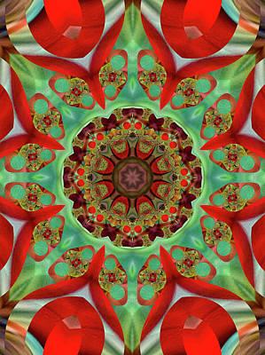 Digital Art - Festive Fractal by Ted Raynor