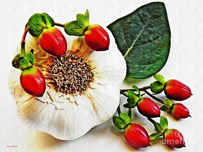 Photograph - Festive Garlic by Sarah Loft