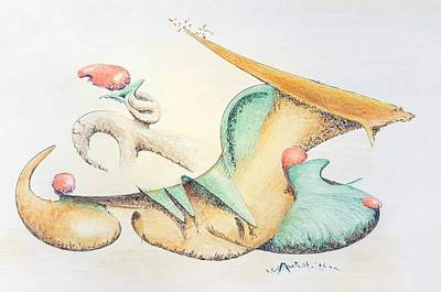 Drawing - Festive Horn by Dave Martsolf