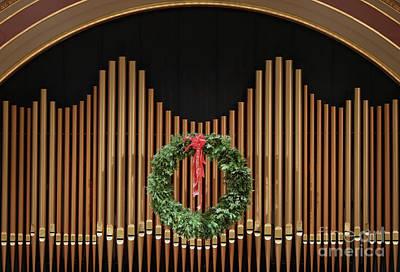 Photograph - Festive Organ Pipes by Ann Horn