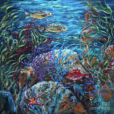 Painting - Festive Reef by Linda Olsen