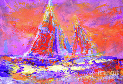 Festive Sailboats 11-28-16 Art Print
