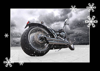 Photograph - Festive Storming Harley by Gill Billington