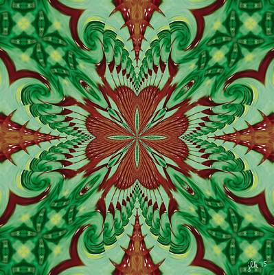 Digital Art - Festive Swirls by Lori Kingston