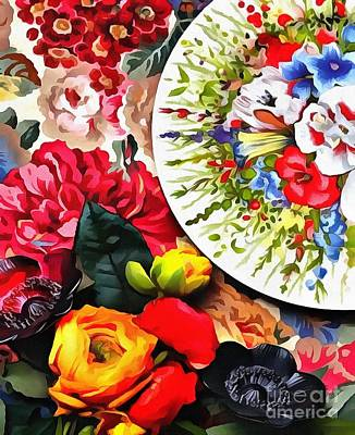 Painting - Festive Table Setting  by Catherine Lott