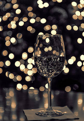 Photograph - Festive White Wine by Steven Sparks