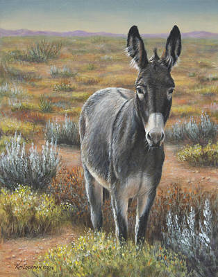 Art Print featuring the painting Festus by Kim Lockman