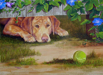 Painting - Fetch It by Terry Albert