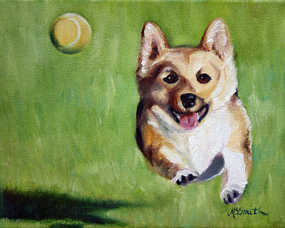 Fetch Painting - Fetch by Mary Sparrow