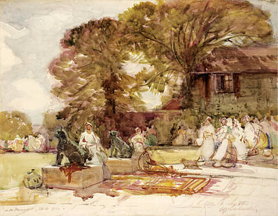 Fete Champetre Art Print by Alfred East