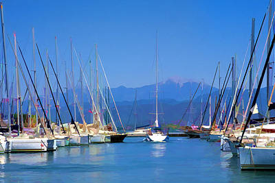 Digital Art - Fethiye Harbour by Rob Tullis