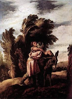Parable Of The Good Samaritan Digital Art - Feti Domenico Parable Of The Good Samaritan by Domenico Feti