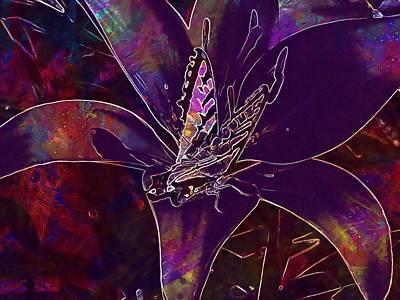 Lilium Bulbiferum Digital Art - Feuerlilie Lilium Bulbiferum Flower  by PixBreak Art