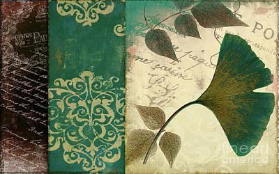 Feuilles Leaves Art Print