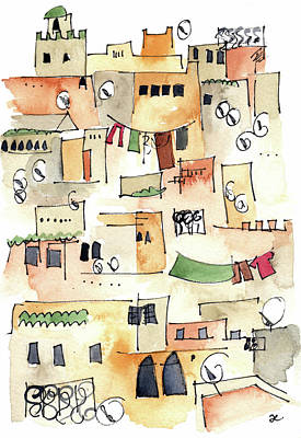 Painting - Fez Medina 2017 by Anna Elkins
