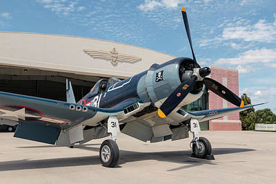Photograph - Fg-1d Corsair In The Sun by Liza Eckardt