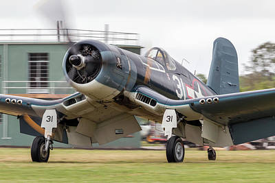 Photograph - Fg-1d Corsair On The Move by Liza Eckardt