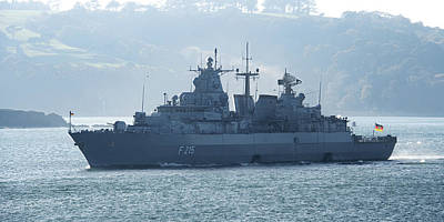 Photograph - Fgs Brandenberg Leaving Plymouth by Chris Day