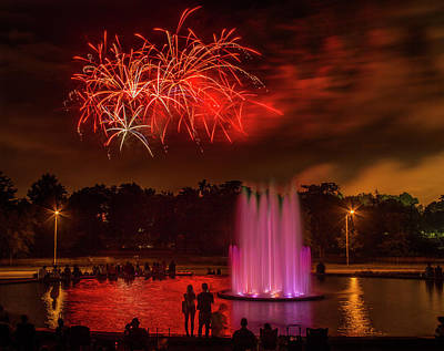 Photograph - Fair St Louis 4th Of July Fireworks by Garry McMichael