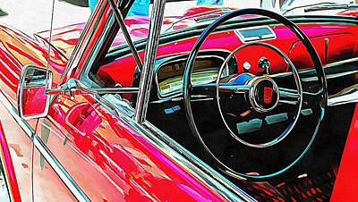 Photograph - Fiat 1100 D Through The Window by Dorothy Berry-Lound