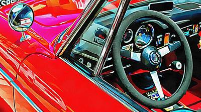 Photograph - Fiat 1500 Cabriolet Through The Window by Dorothy Berry-Lound