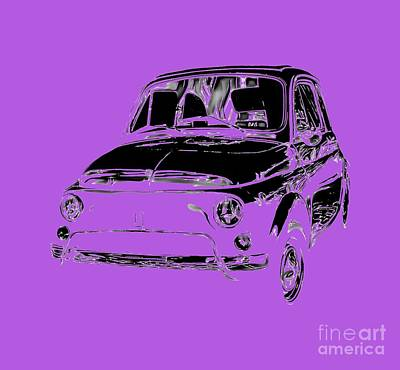 Royalty-Free and Rights-Managed Images - Fiat 500 2 Tee by Edward Fielding