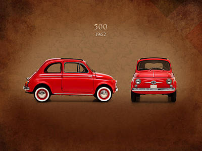 Fiat 500 D 1960 Art Print by Mark Rogan