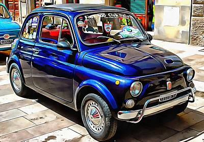 Photograph - Fiat 500 Dark Blue Version by Dorothy Berry-Lound