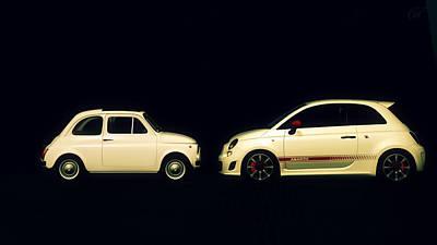 Classic Fiat Digital Art - Fiat 500 by Grumpz Productions