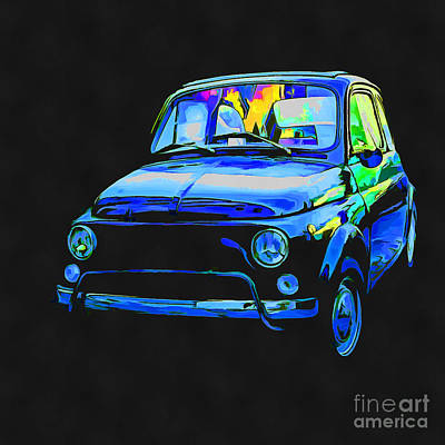 Painting - Fiat 500 Pop Art by Edward Fielding