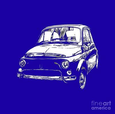 Fiat 500 Tee Art Print by Edward Fielding