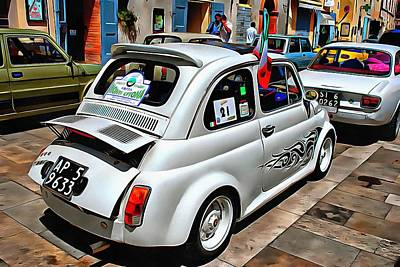 Photograph - Fiat 500 White Version by Dorothy Berry-Lound