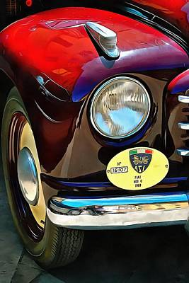 Photograph - Fiat 500c Front Detail by Dorothy Berry-Lound