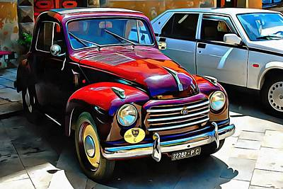 Photograph - Fiat 500c Front View by Dorothy Berry-Lound