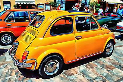 Photograph - Fiat 500l Orange Version by Dorothy Berry-Lound