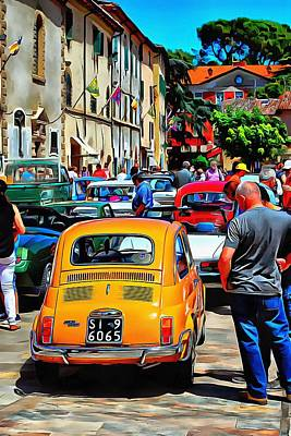 Photograph - Fiat 500l Orange Version Rear View by Dorothy Berry-Lound