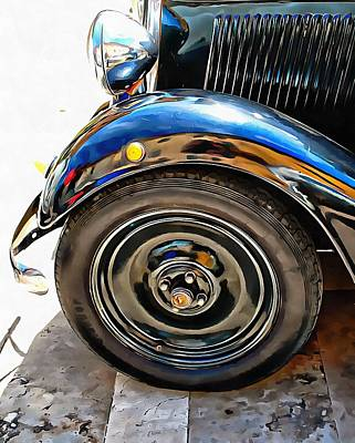 Photograph - Fiat 508 Balila View Of Headlamp, Bumper And Wheel by Dorothy Berry-Lound