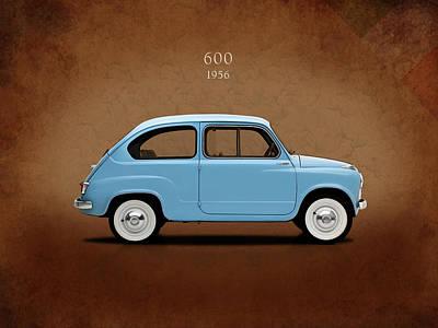 Fiat 600 1956 Art Print by Mark Rogan