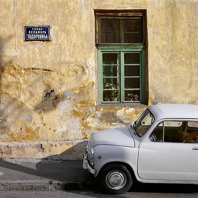 Fiat 600. Belgrade. Serbia Art Print