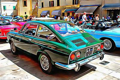 Photograph - Fiat 850 Sports Coupe by Dorothy Berry-Lound