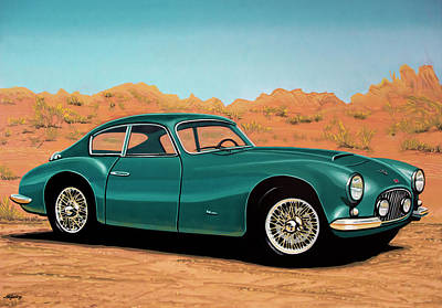 Painting - Fiat 8v Elaborata Zagato 1952 Painting by Paul Meijering