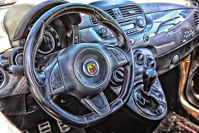 Photograph - Fiat Abarth Cockpit by Mike Martin