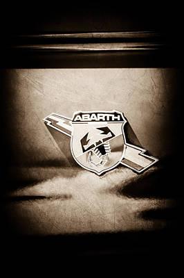 Photograph - Fiat Abarth Emblem -ck1611s1 by Jill Reger