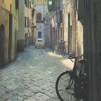 Fiat Car Painting - Fiat In Florence by Helen Parsley