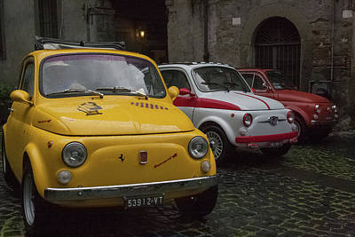 Photograph - Fiat Parade, Italy by Kathleen McGinley