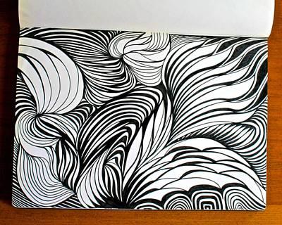 Drawing - Fiber Fantasy by Polly Castor
