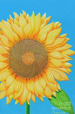 Wall Art - Painting - Fibonacci Flower by Tracy Farrand